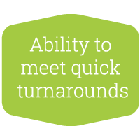 Tailored Textiles - meet quick turnarounds