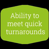 Tailored Textiles - meet quick turnarounds